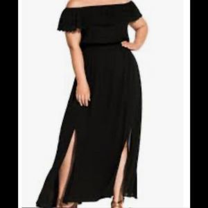 City Chic Tropicana Elastic Waist Maxi Dress